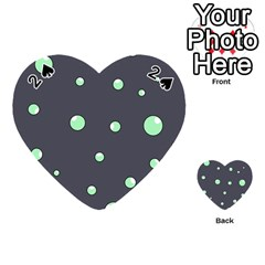 Green bubbles Playing Cards 54 (Heart)