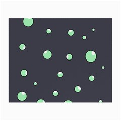 Green bubbles Small Glasses Cloth (2-Side)
