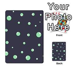 Green bubbles Multi-purpose Cards (Rectangle)