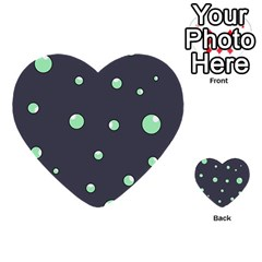 Green bubbles Multi-purpose Cards (Heart)