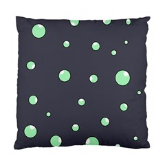 Green bubbles Standard Cushion Case (One Side)