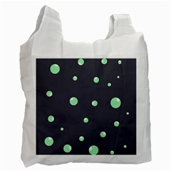 Green bubbles Recycle Bag (Two Side)