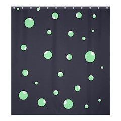 Green bubbles Shower Curtain 66  x 72  (Large)