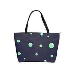 Green bubbles Shoulder Handbags