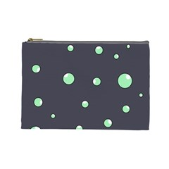 Green bubbles Cosmetic Bag (Large)