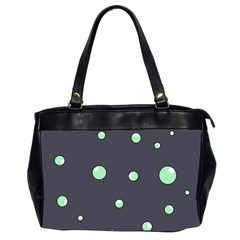 Green bubbles Office Handbags (2 Sides)