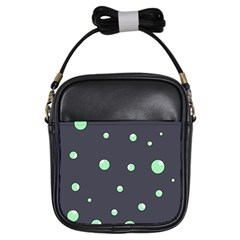 Green bubbles Girls Sling Bags