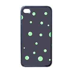 Green bubbles Apple iPhone 4 Case (Black)