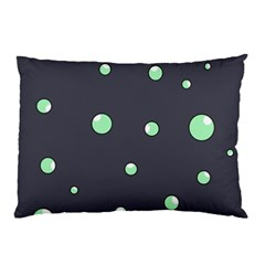 Green bubbles Pillow Case (Two Sides)