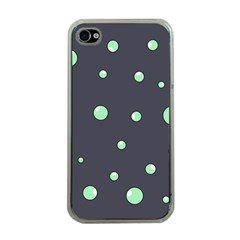 Green bubbles Apple iPhone 4 Case (Clear)