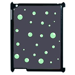 Green bubbles Apple iPad 2 Case (Black)