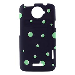 Green bubbles HTC One X Hardshell Case