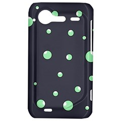 Green bubbles HTC Incredible S Hardshell Case