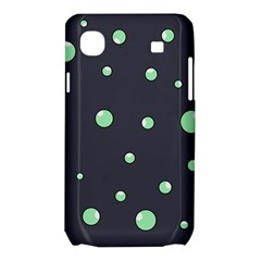 Green bubbles Samsung Galaxy SL i9003 Hardshell Case