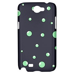 Green bubbles Samsung Galaxy Note 2 Hardshell Case