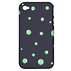 Green bubbles Apple iPhone 4/4S Hardshell Case (PC+Silicone)