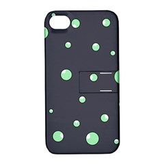 Green bubbles Apple iPhone 4/4S Hardshell Case with Stand