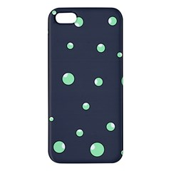 Green bubbles Apple iPhone 5 Premium Hardshell Case