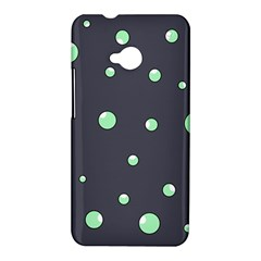 Green bubbles HTC One M7 Hardshell Case