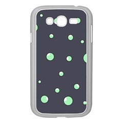 Green bubbles Samsung Galaxy Grand DUOS I9082 Case (White)
