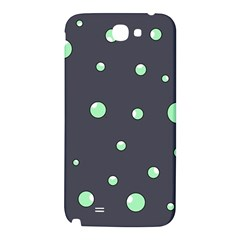 Green bubbles Samsung Note 2 N7100 Hardshell Back Case