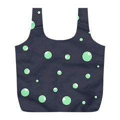 Green bubbles Full Print Recycle Bags (L)