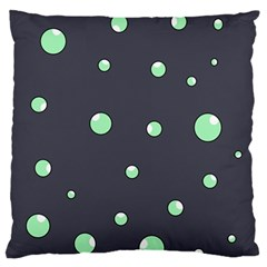 Green bubbles Large Flano Cushion Case (Two Sides)