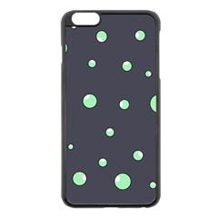 Green bubbles Apple iPhone 6 Plus/6S Plus Black Enamel Case