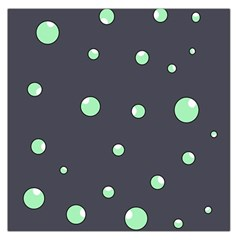 Green bubbles Large Satin Scarf (Square)