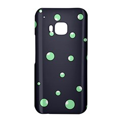 Green bubbles HTC One M9 Hardshell Case