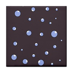 Blue bubbles Tile Coasters