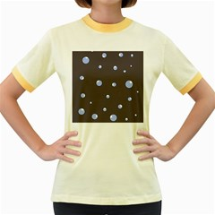 Blue bubbles Women s Fitted Ringer T-Shirts