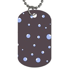 Blue bubbles Dog Tag (Two Sides)