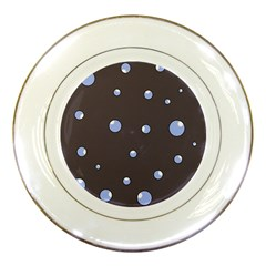 Blue bubbles Porcelain Plates