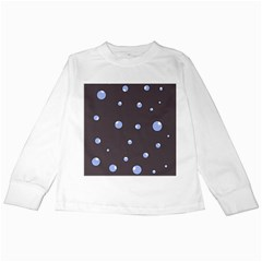 Blue bubbles Kids Long Sleeve T-Shirts