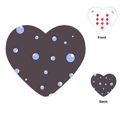 Blue bubbles Playing Cards (Heart)