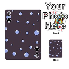 Blue Bubbles Playing Cards 54 Designs