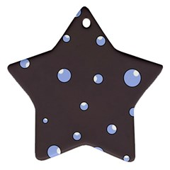 Blue bubbles Star Ornament (Two Sides)