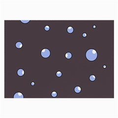 Blue bubbles Large Glasses Cloth (2-Side)