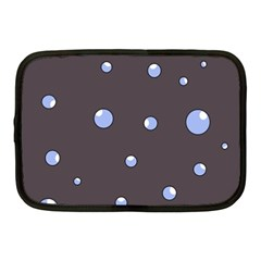 Blue bubbles Netbook Case (Medium)