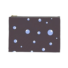 Blue bubbles Cosmetic Bag (Large)