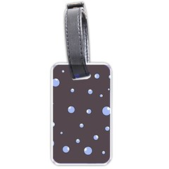 Blue bubbles Luggage Tags (One Side)