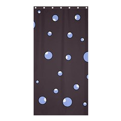 Blue bubbles Shower Curtain 36  x 72  (Stall)