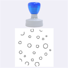 Blue Bubbles Rubber Round Stamps (large)