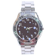 Blue bubbles Stainless Steel Analogue Watch