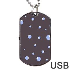 Blue bubbles Dog Tag USB Flash (Two Sides)