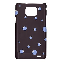 Blue bubbles Samsung Galaxy S2 i9100 Hardshell Case