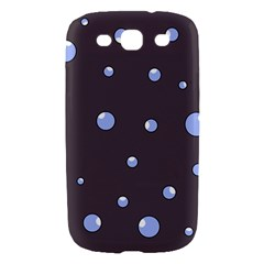 Blue bubbles Samsung Galaxy S III Hardshell Case