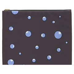 Blue bubbles Cosmetic Bag (XXXL)