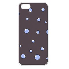 Blue bubbles Apple iPhone 5 Seamless Case (White)